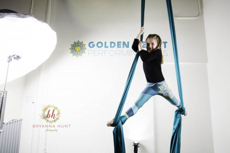 Commercial Session with Golden Heart Performing Arts Aerial Silks and Bryanna Hunt Photography Commercial Headshot Photographer Fairbanks Alaska