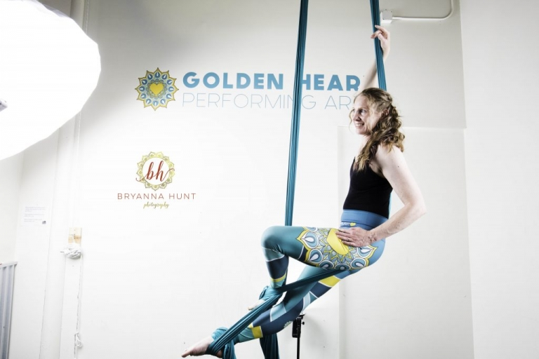 Commercial Session with Golden Heart Performing Arts Aerial Silks and Bryanna Hunt Photography